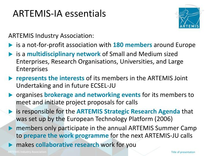 Artemis ia essentials