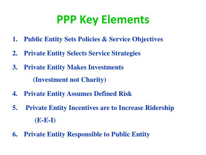 PPP Key Elements
