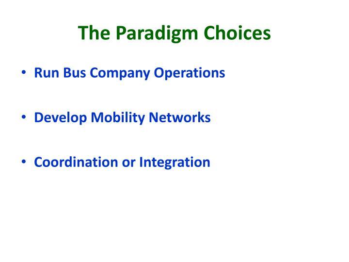 The Paradigm Choices
