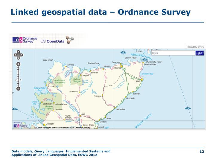Linked geospatial data – Ordnance Survey