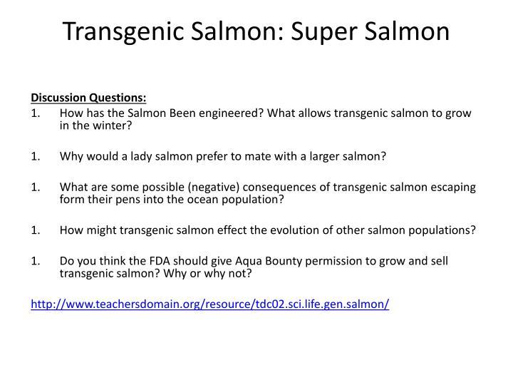 Transgenic Salmon: Super Salmon