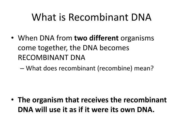 What is Recombinant DNA