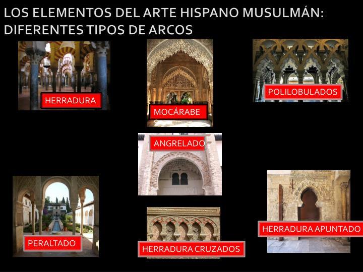 LOS ELEMENTOS DEL ARTE HISPANO MUSULMÁN: DIFERENTES TIPOS DE ARCOS