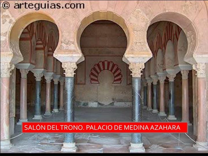SALÓN DEL TRONO. PALACIO DE MEDINA AZAHARA