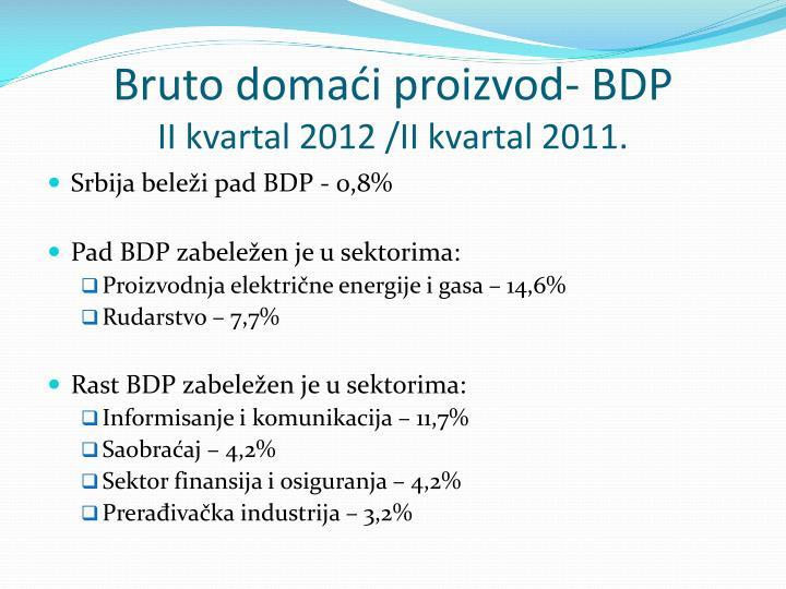 Bruto domaći proizvod- BDP