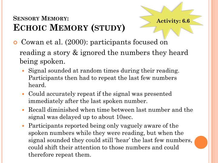 Sensory Memory: