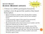 sensory memory echoic memory study