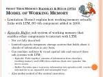 short term memory baddeley hitch 1974 model of working memory1