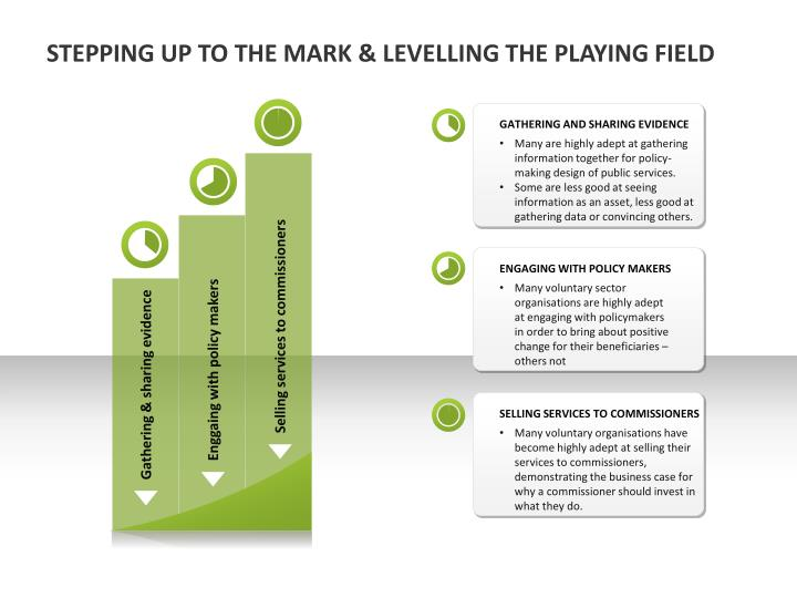 STEPPING UP TO THE MARK & LEVELLING THE PLAYING FIELD
