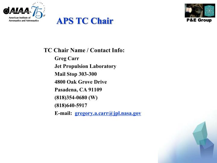 APS TC Chair