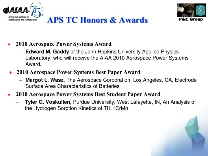 APS TC Honors & Awards