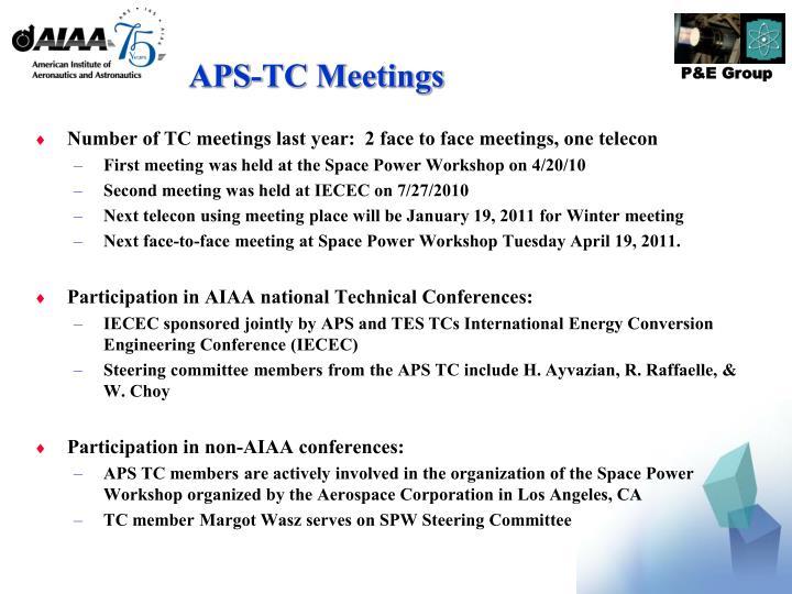 APS-TC Meetings