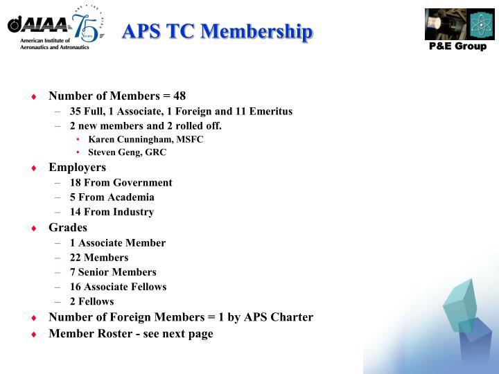 APS TC Membership