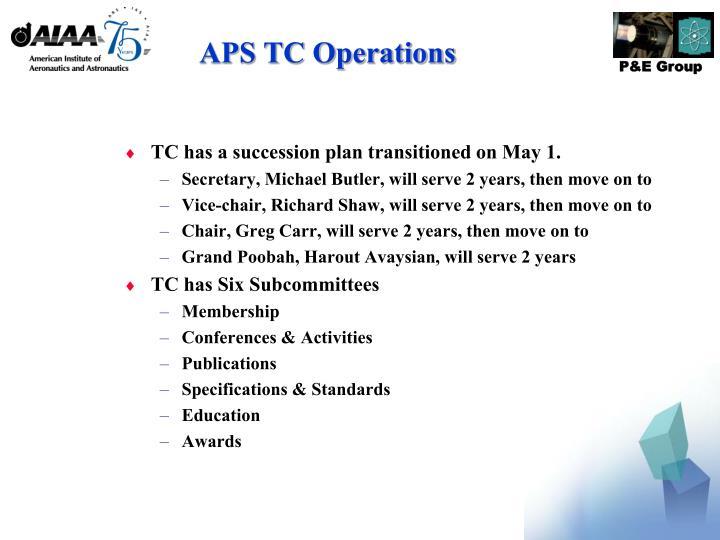 APS TC Operations