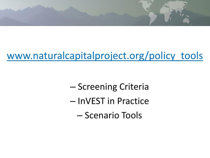 www.naturalcapitalproject.org/policy_tools