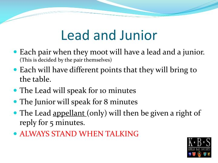 Lead and Junior