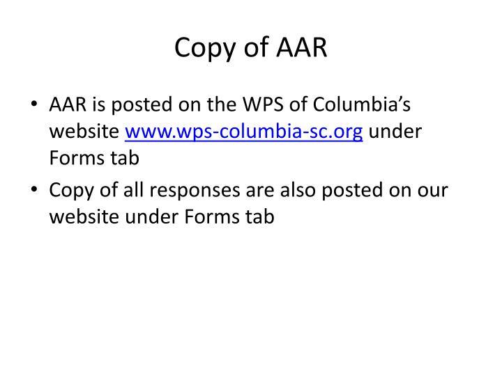 Copy of AAR