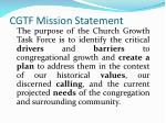 cgtf mission statement