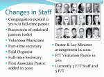 changes in staff