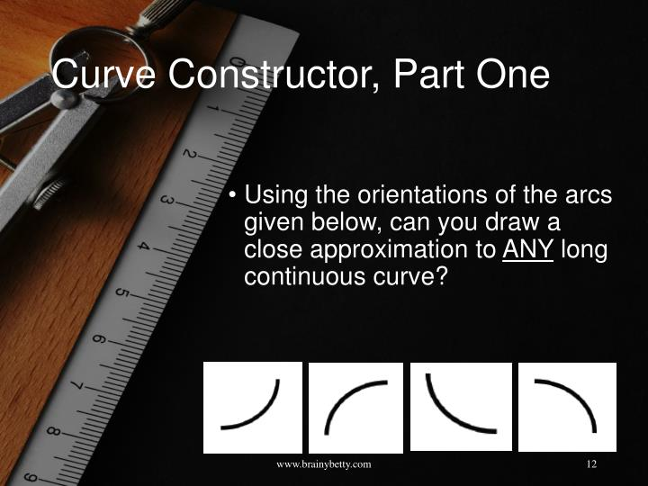 Curve Constructor, Part One
