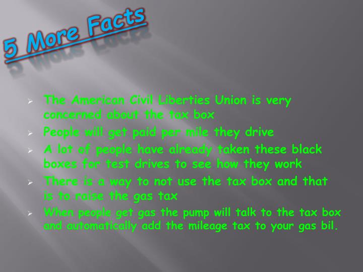 5 More Facts