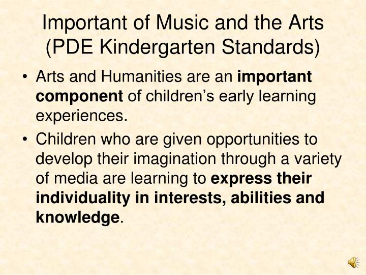Important of Music and the Arts