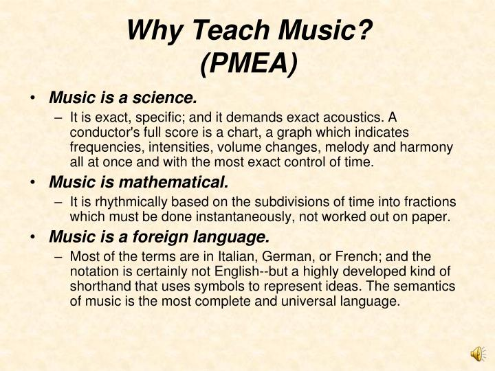 Why Teach Music?