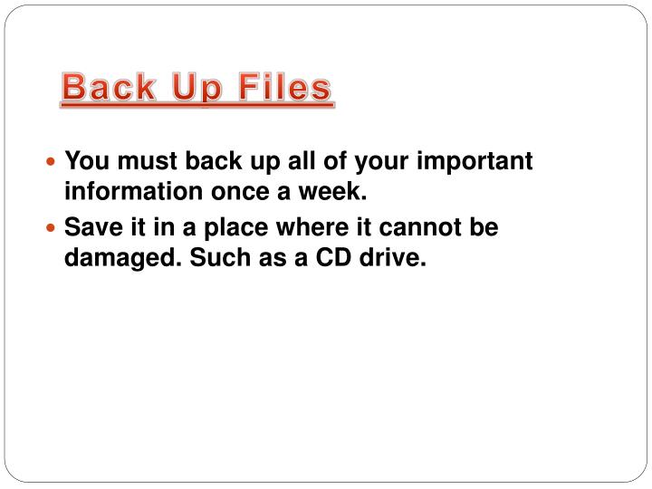 Back up files
