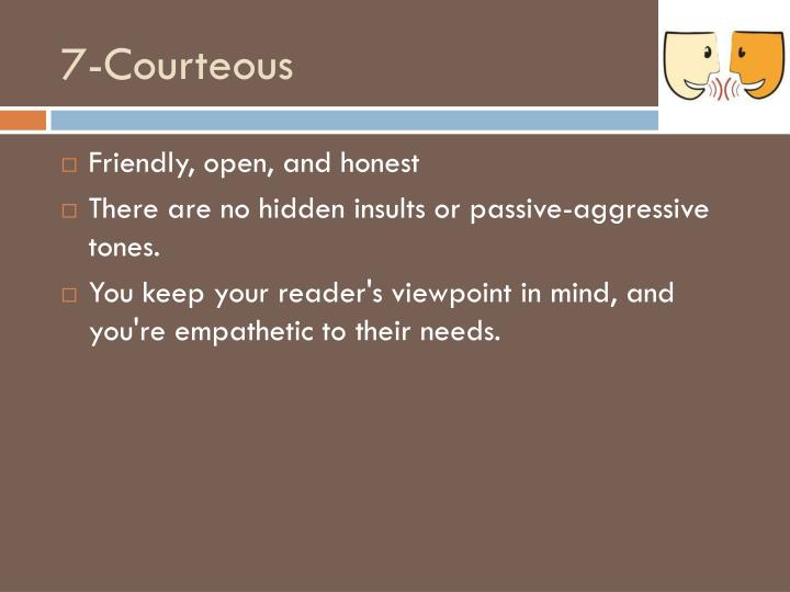 7-Courteous