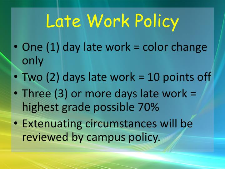 Late Work Policy