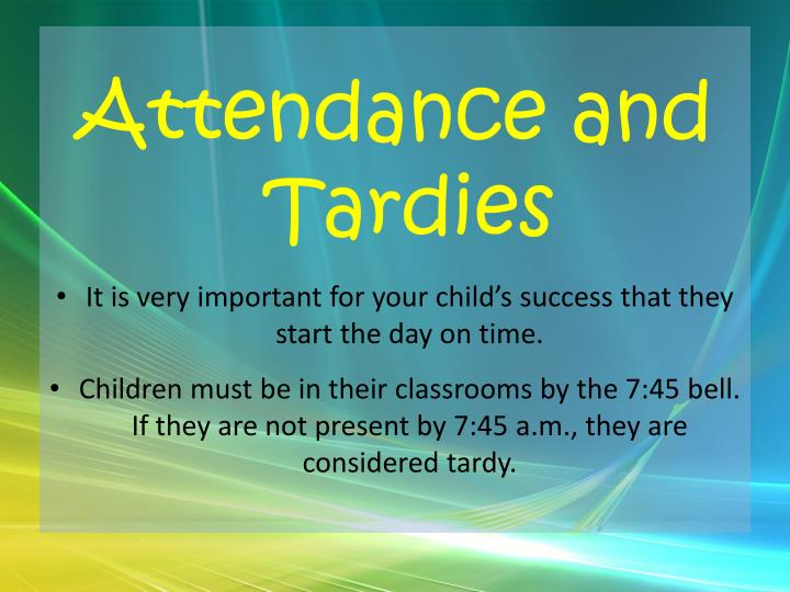 Attendance and
