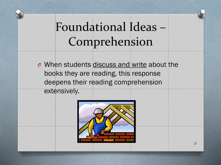 Foundational Ideas – Comprehension
