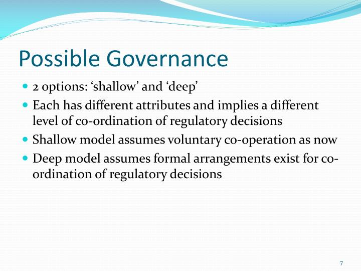 Possible Governance