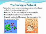 the universal solvent