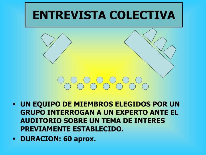 ENTREVISTA COLECTIVA