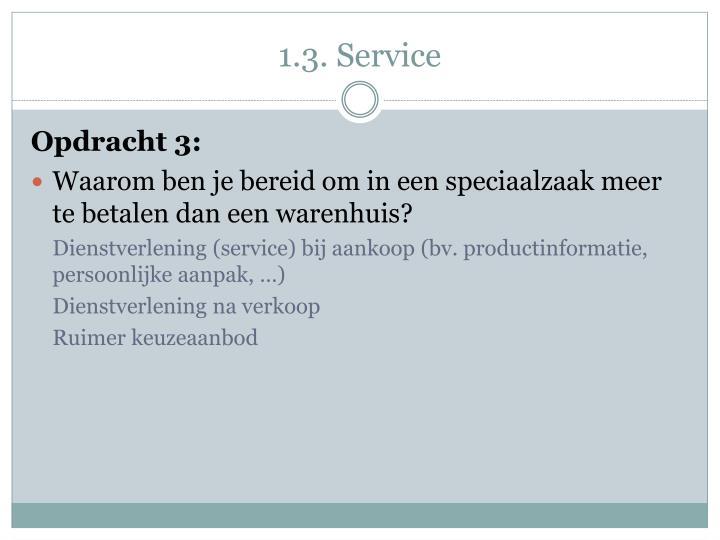 1.3. Service