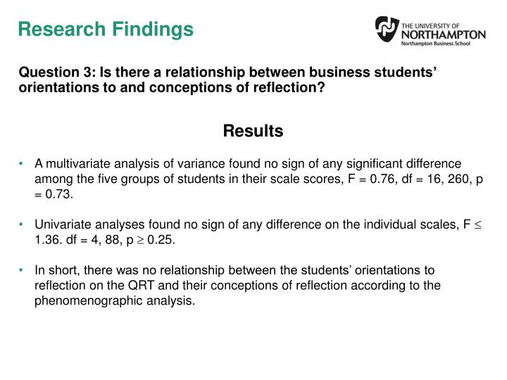 Question 3: Is there a relationship between business