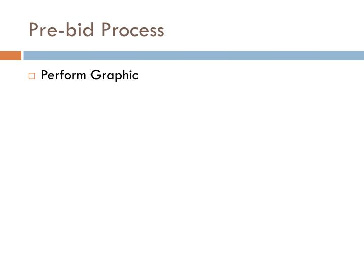 Pre-bid Process