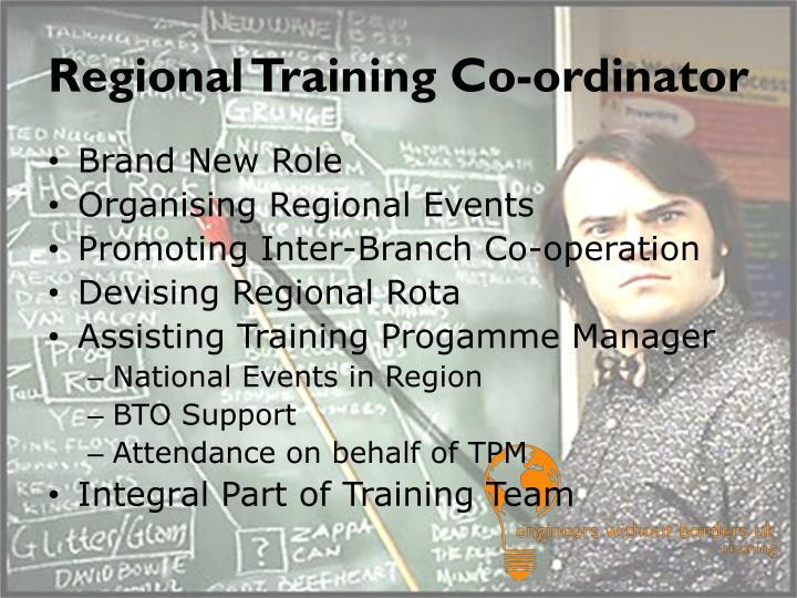 Regional Training Co-ordinator