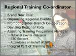regional training co ordinator
