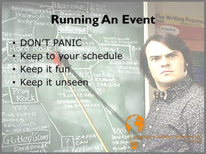 Running An Event