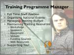 training programme manager