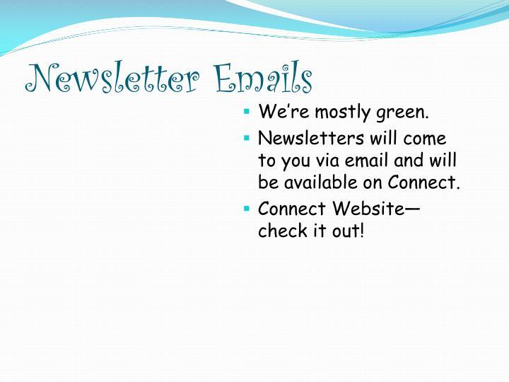 Newsletter Emails