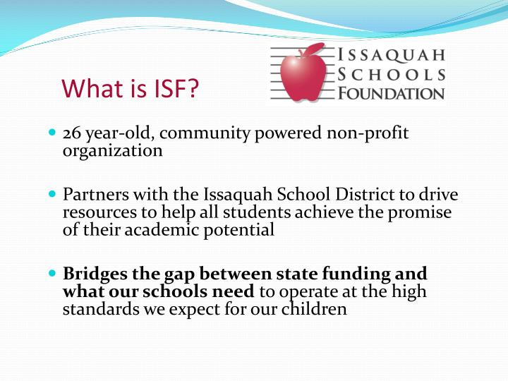 What is ISF?