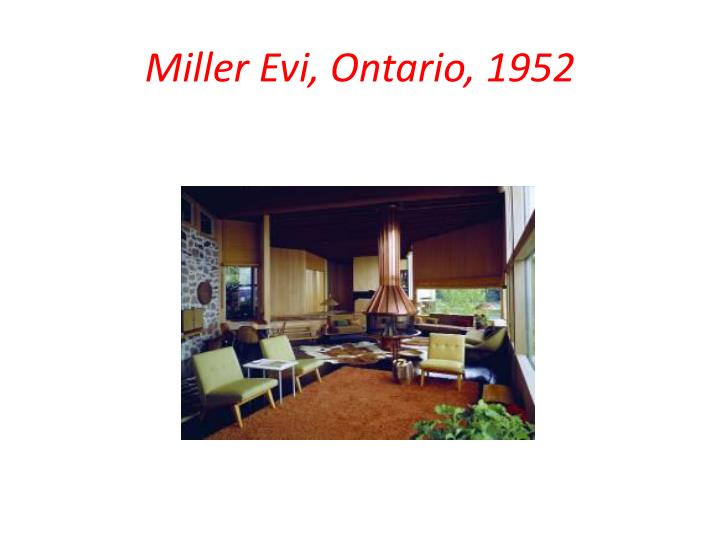Miller Evi, Ontario, 1952