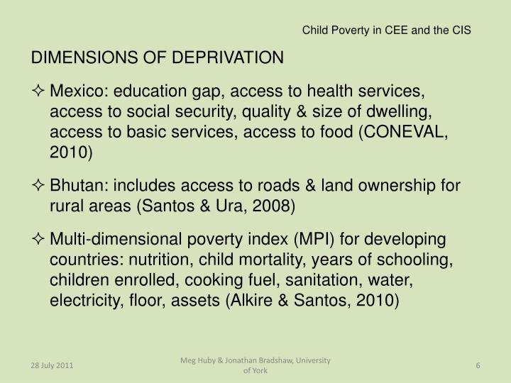 Child Poverty in CEE and the CIS