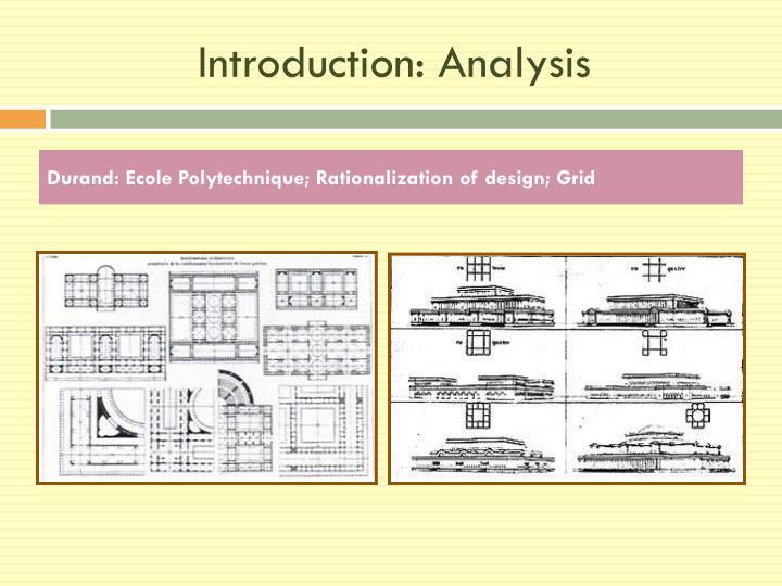 Introduction: Analysis