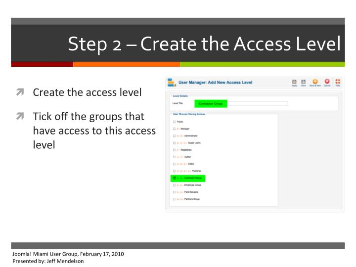 Step 2 – Create the