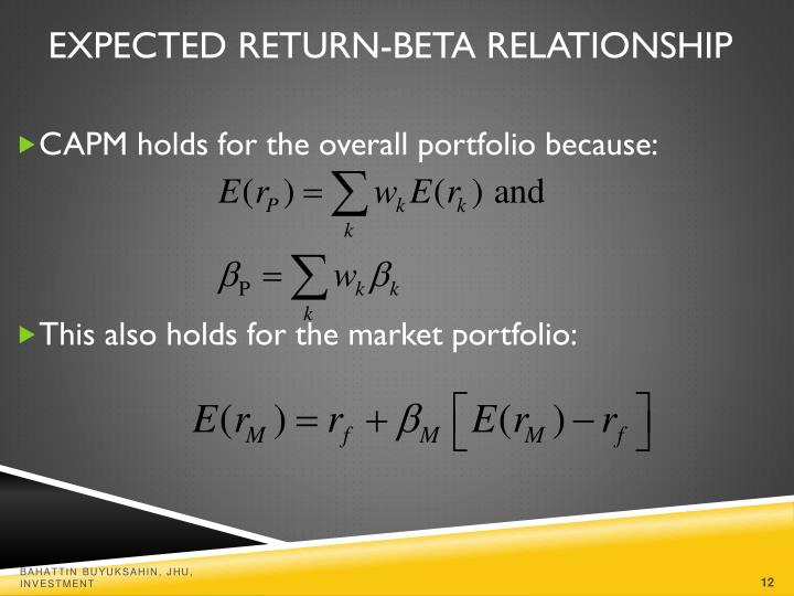 Expected Return-Beta Relationship