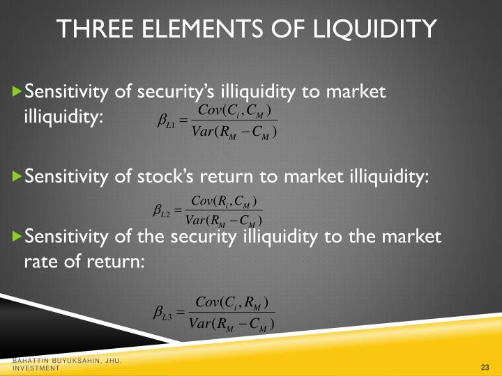 Three Elements of Liquidity
